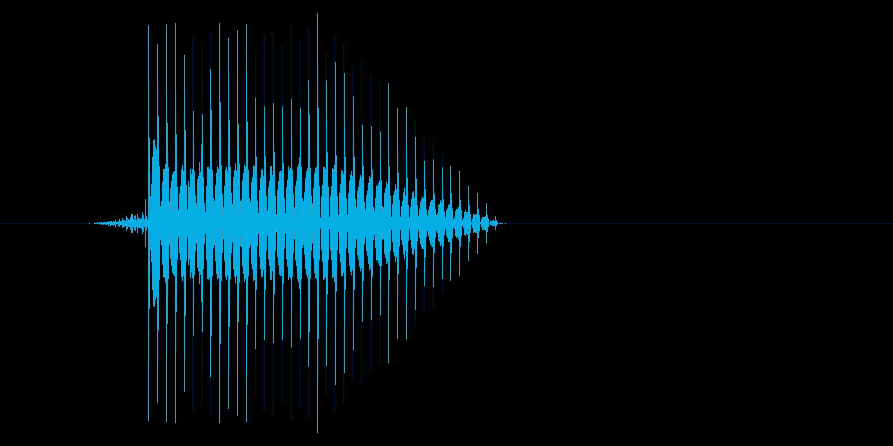ゲーム(ファミコン風)セレクト音_046の再生済みの波形