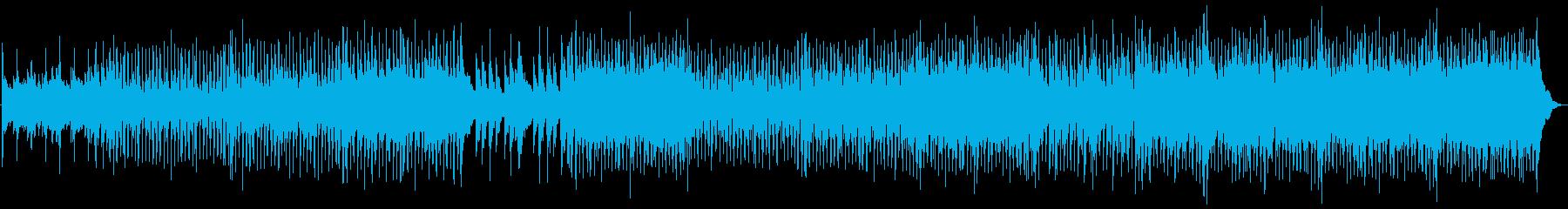 マンドリン、ピアノ、ギターの下に素...の再生済みの波形