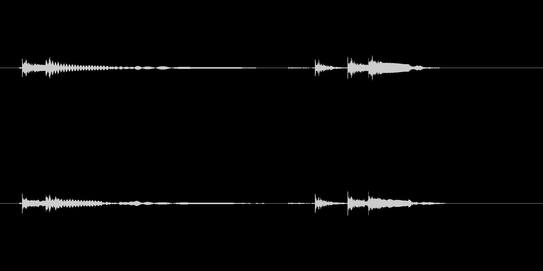 エレキギター54弦チューニング リバーブの未再生の波形