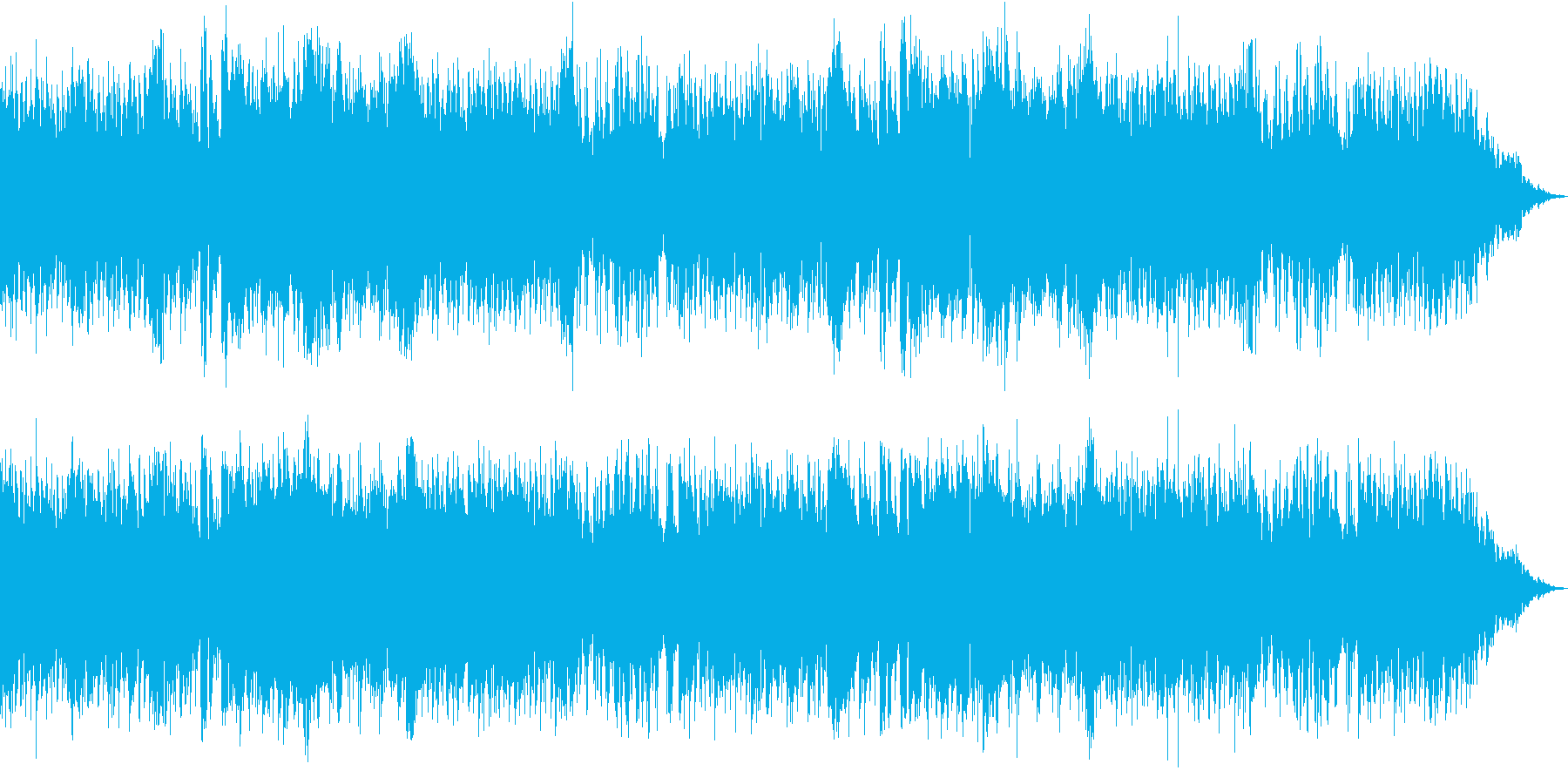 レトロゲーム風BGMの再生済みの波形