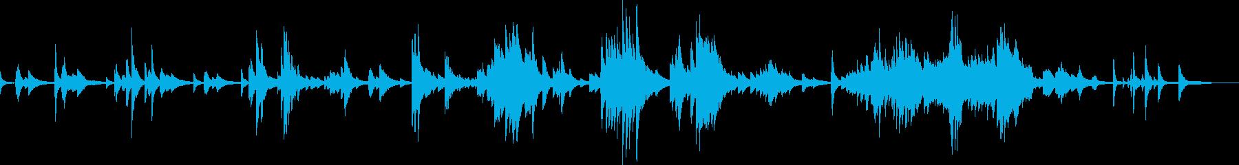 儚く切ないピアノバラード(悲しい・暗い)の再生済みの波形
