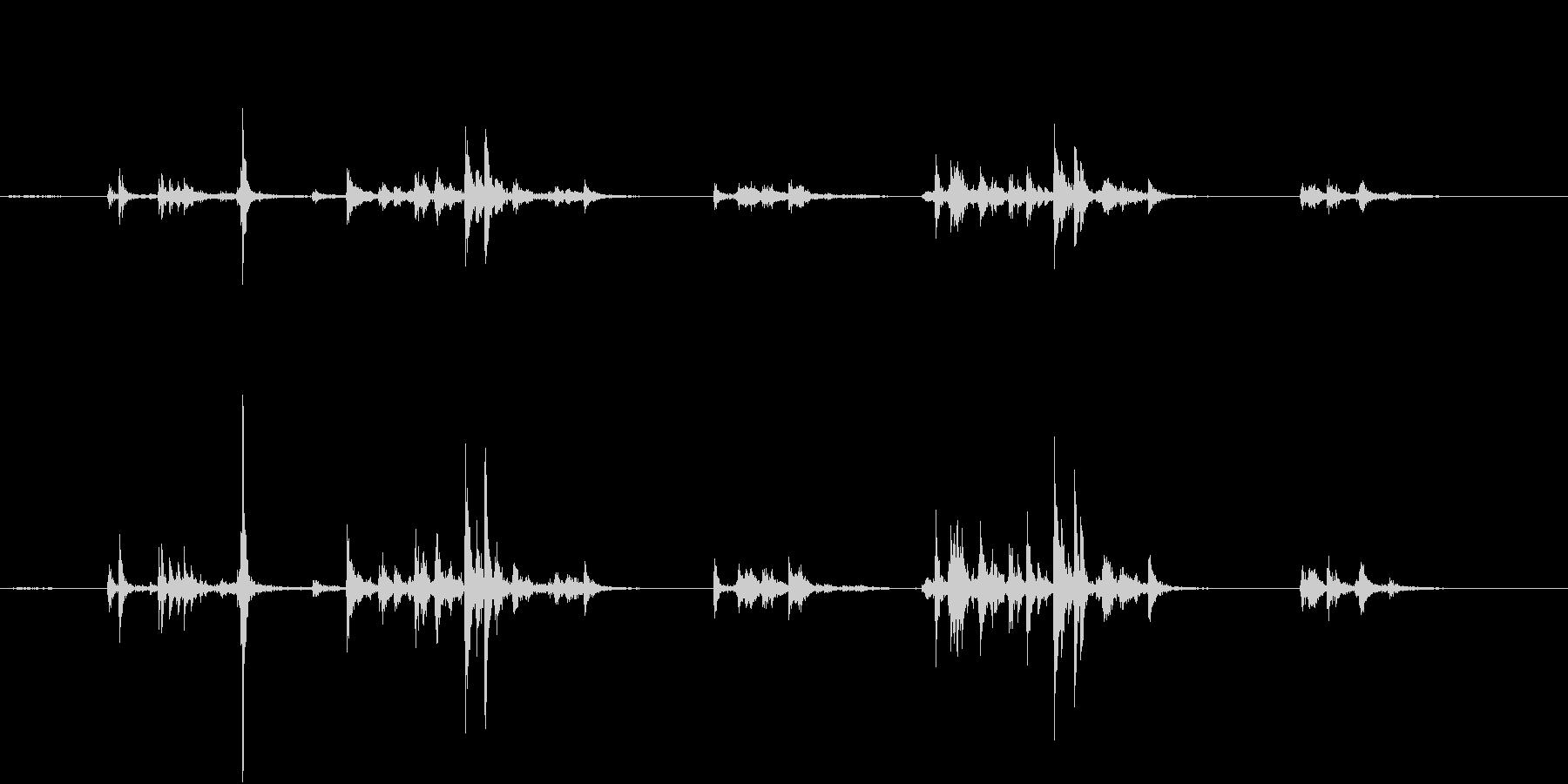 【生録音】自動販売機に小銭を入れる音の未再生の波形