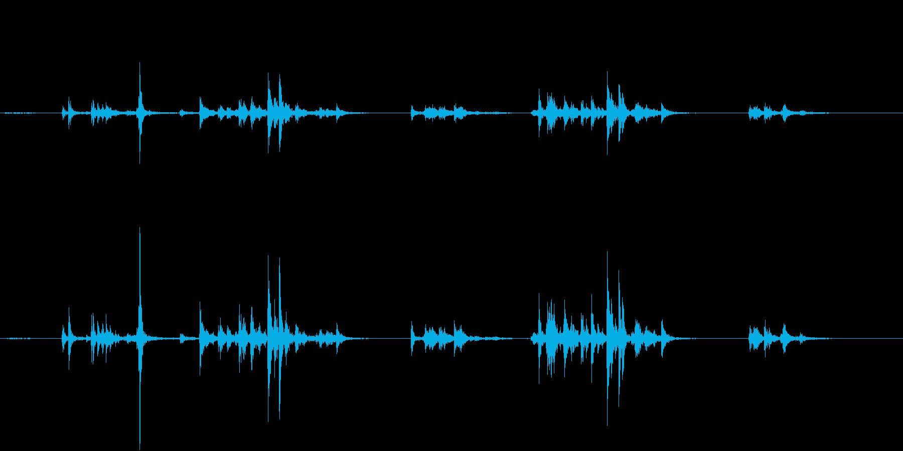 【生録音】自動販売機に小銭を入れる音の再生済みの波形