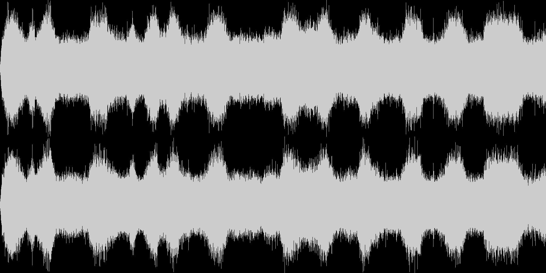 嵐の海(環境音)の未再生の波形