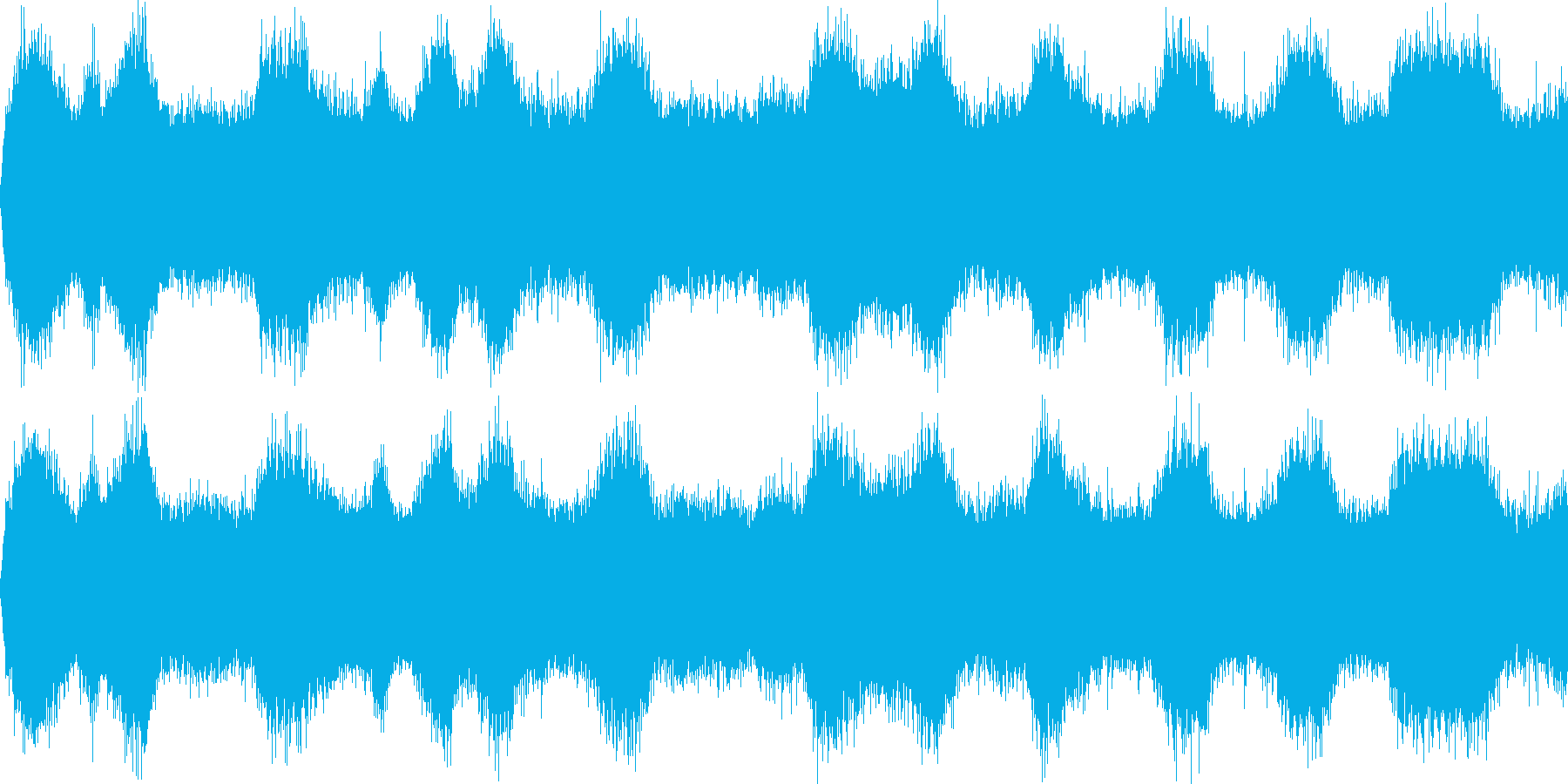 嵐の海(環境音)の再生済みの波形