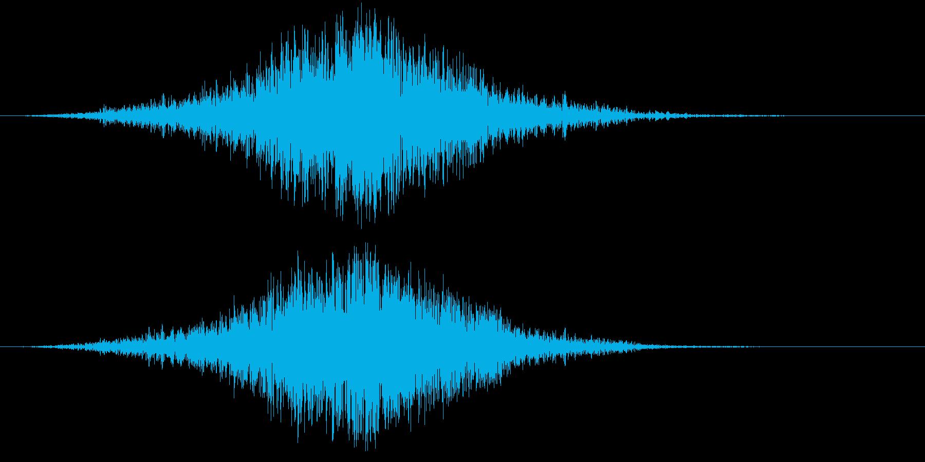 【衝撃音】キーン・・・ズドンッ!!の再生済みの波形
