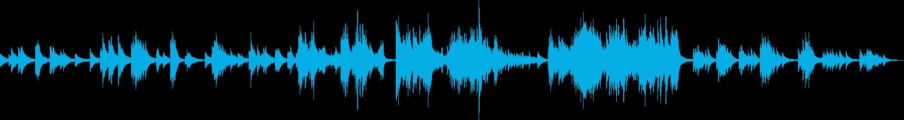 寄り添うような優しいピアノソロ曲の再生済みの波形