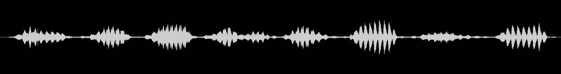 オフィス音声環境の未再生の波形