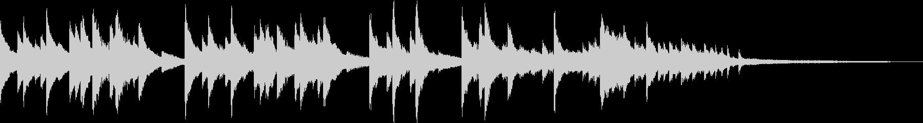 ピアノの旋律が印象的なBGMの未再生の波形