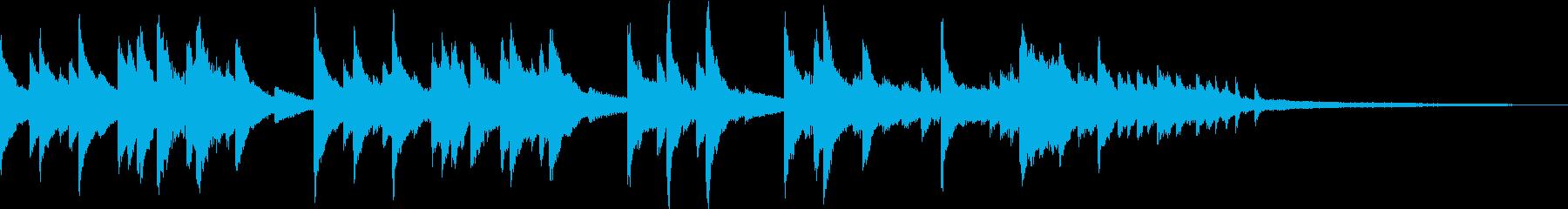 ピアノの旋律が印象的なBGMの再生済みの波形