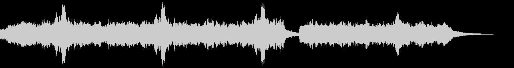 オーボエと管弦楽の切ないジングルの未再生の波形