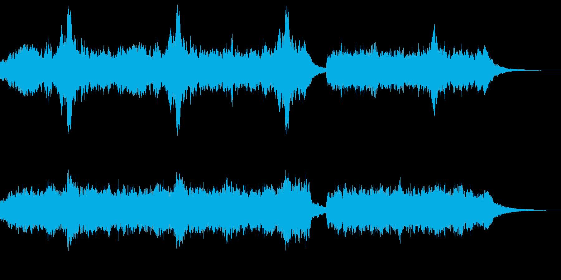 オーボエと管弦楽の切ないジングルの再生済みの波形