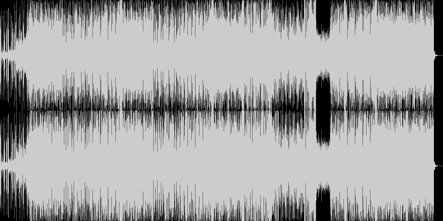 テクノポップ風のJ-Popの未再生の波形