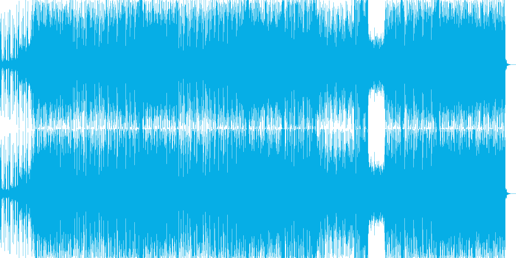テクノポップ風のJ-Popの再生済みの波形