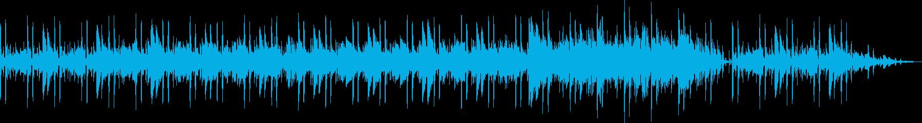 BGM素材(ムーディー、リラックス)の再生済みの波形