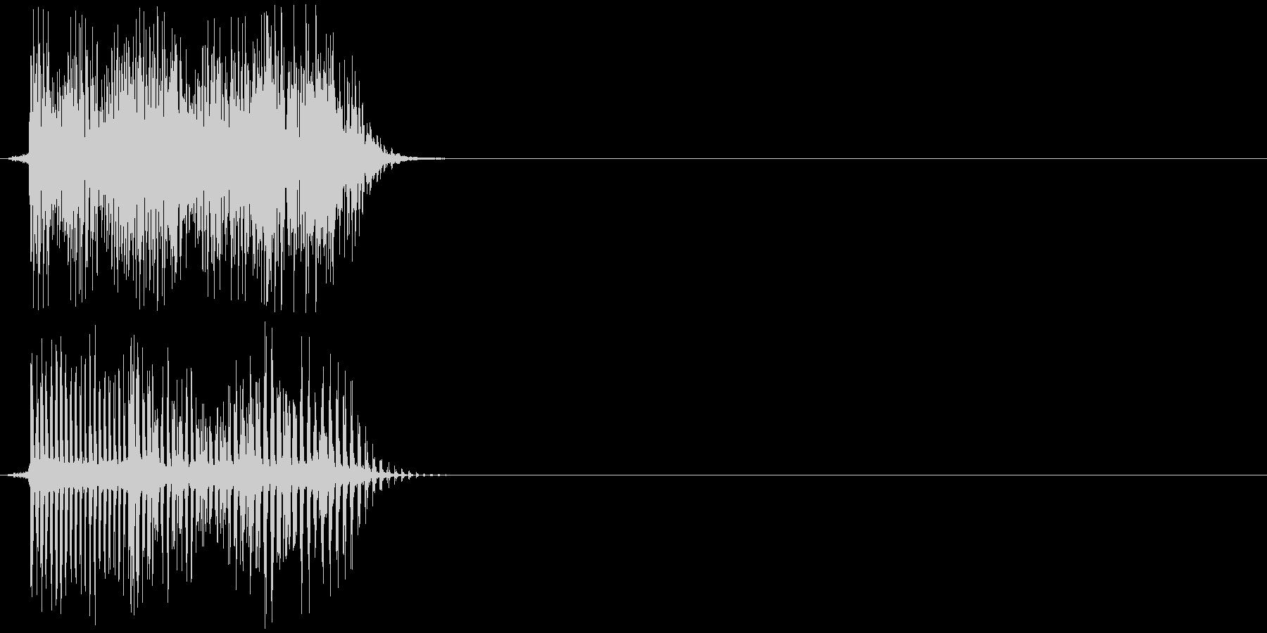 決定音、ボタン、アプリ等の未再生の波形