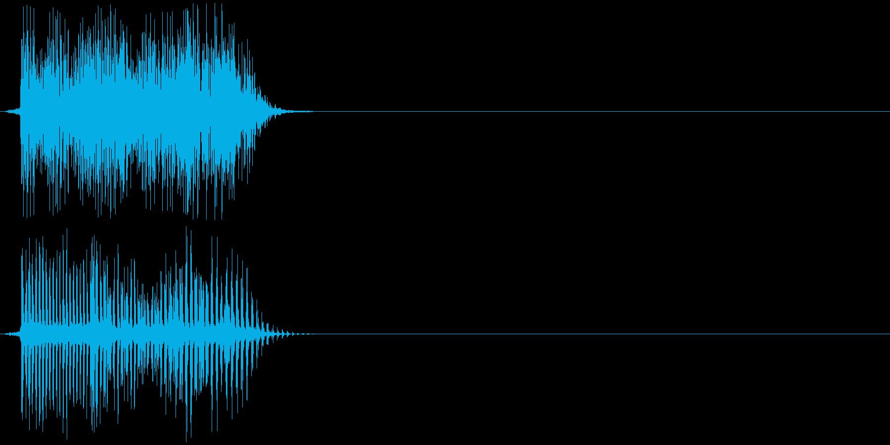 決定音、ボタン、アプリ等の再生済みの波形