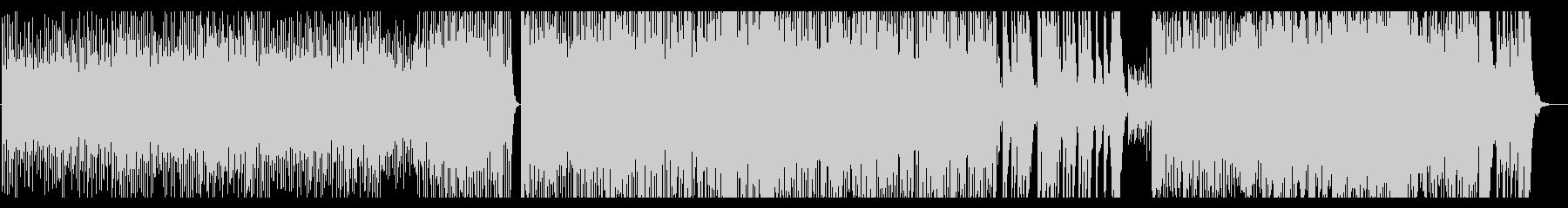勢いのある和太鼓曲の未再生の波形
