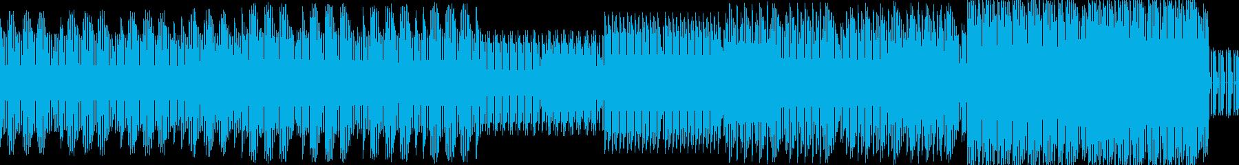 レトロゲーム風の緊迫したバトルBGMの再生済みの波形