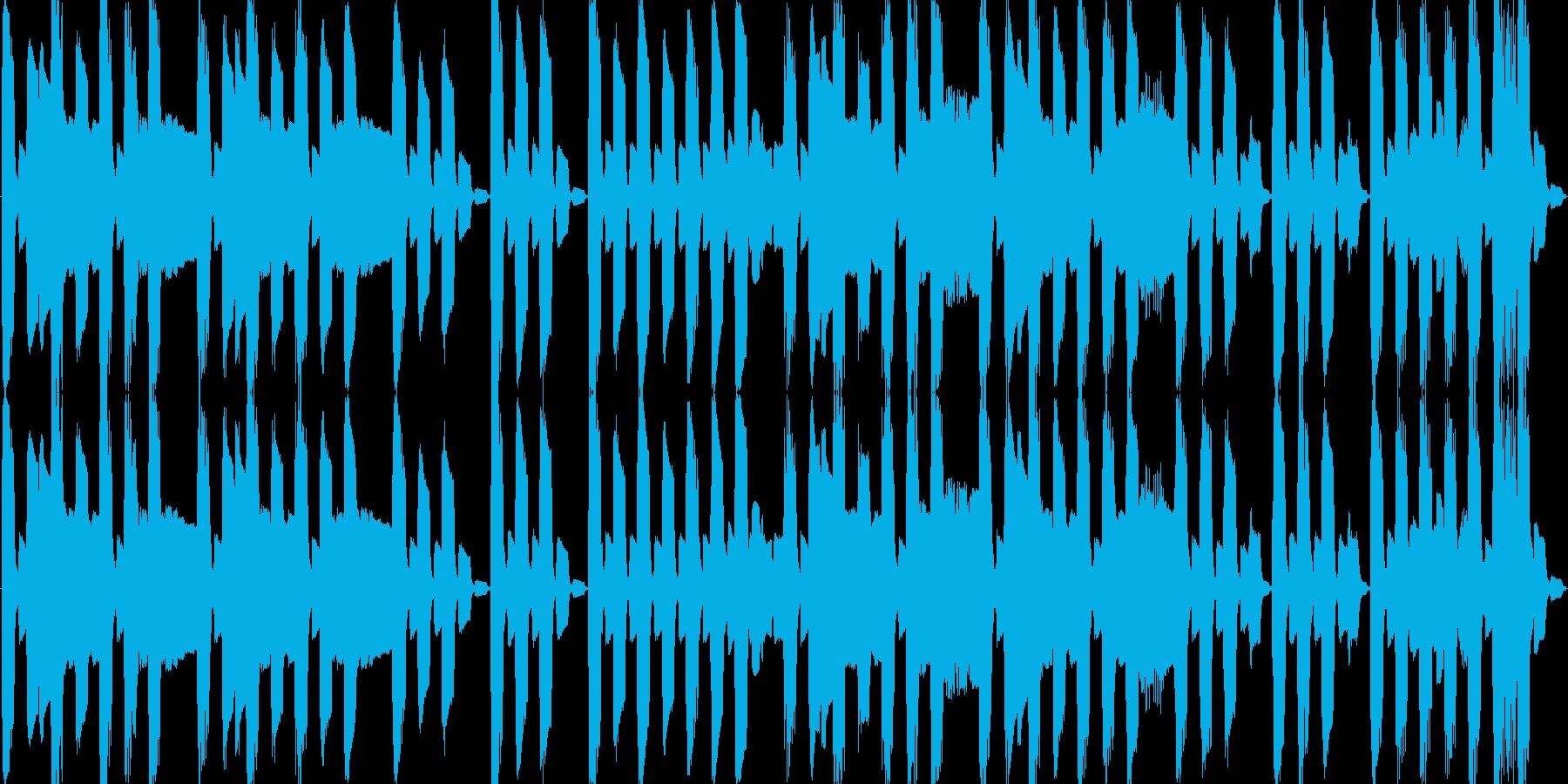 ぽよぽよした感じのBGMの再生済みの波形
