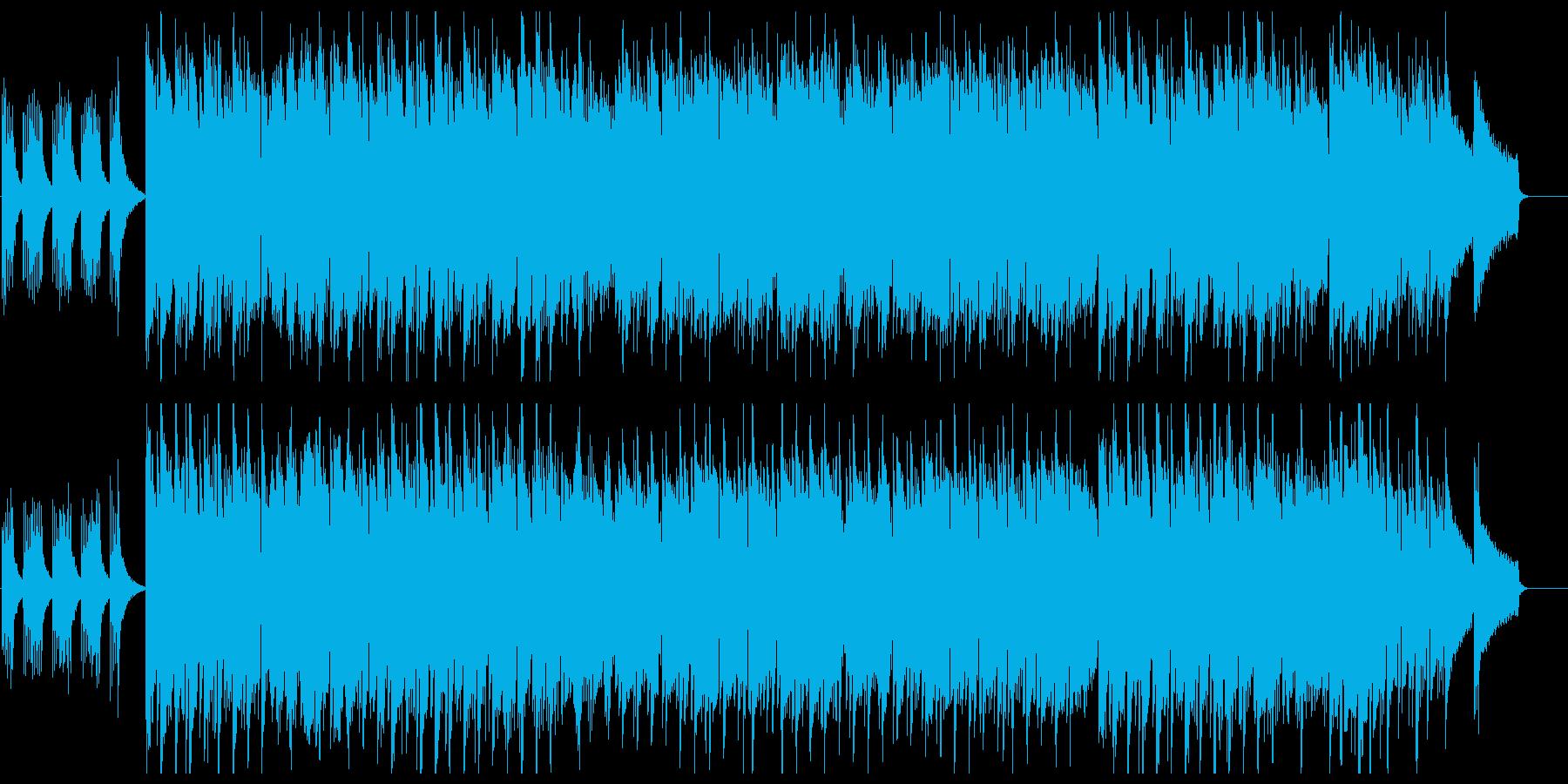 映像向けのしっとりとして優しいBGMの再生済みの波形