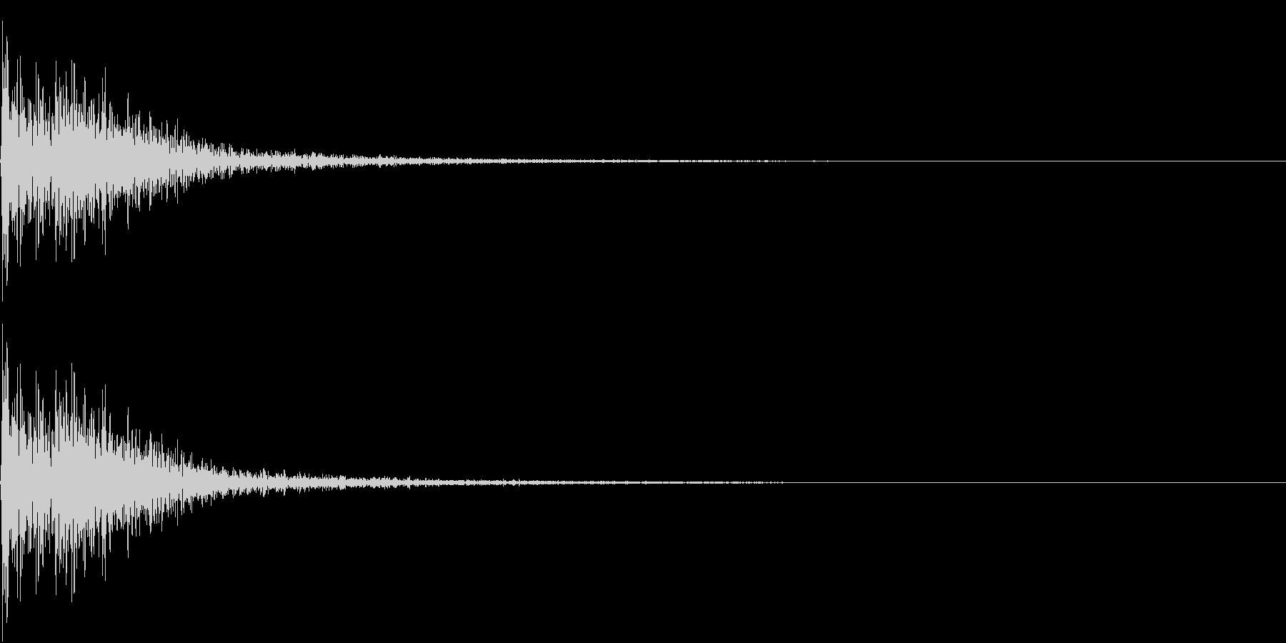 FinalJudge 裁判 判決 木槌音の未再生の波形