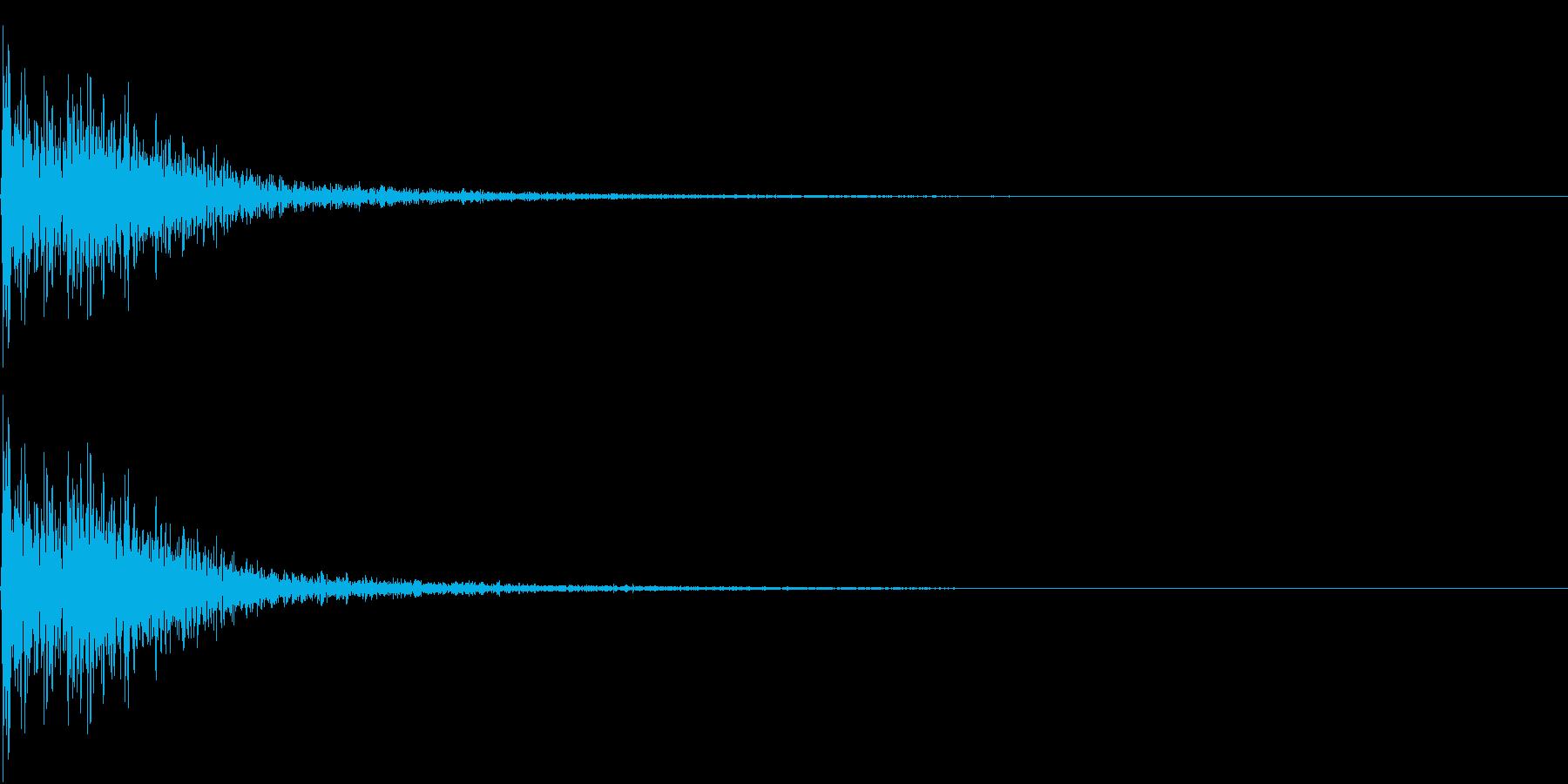 FinalJudge 裁判 判決 木槌音の再生済みの波形