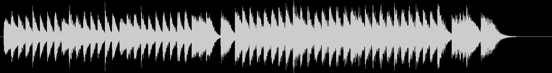 ワンパクなメロディの面白いピアノジングルの未再生の波形