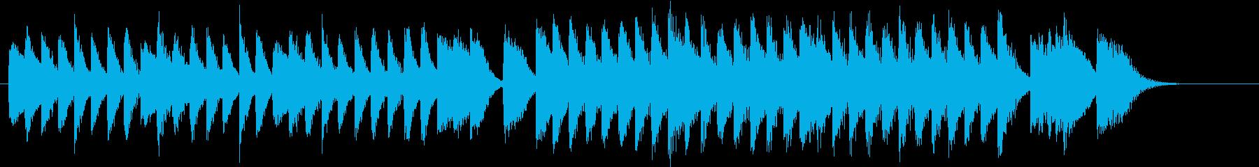 ワンパクなメロディの面白いピアノジングルの再生済みの波形