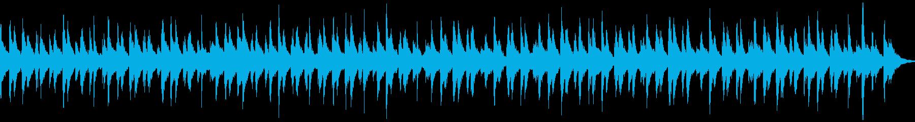 賑やかなお囃子(ループ)の再生済みの波形