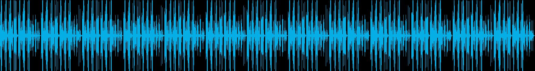 ゆるい日常系のBGMの再生済みの波形