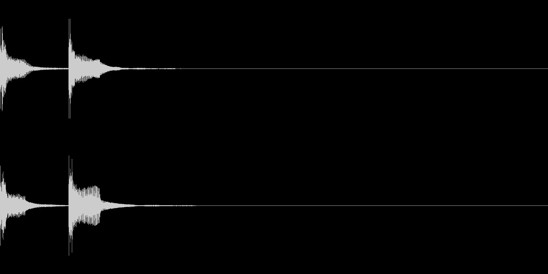 チャンチャン(失敗、台無し)A03の未再生の波形