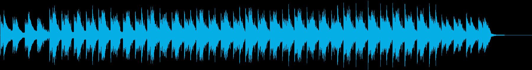 幻想的でギターのアンビエントチルアウトの再生済みの波形