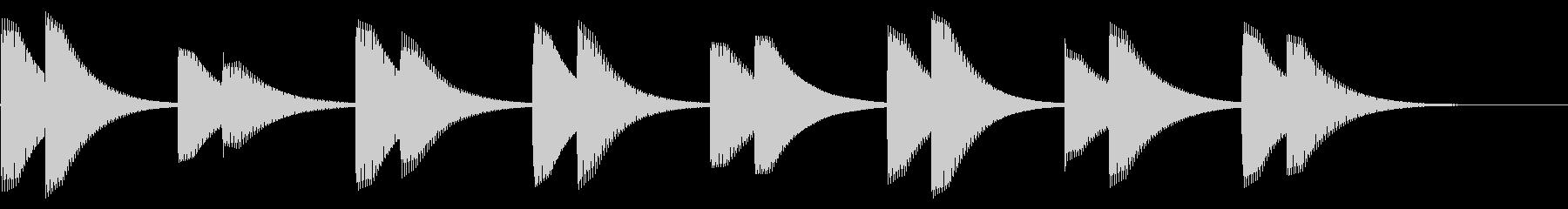 電子アラーム:ミュートベルの未再生の波形