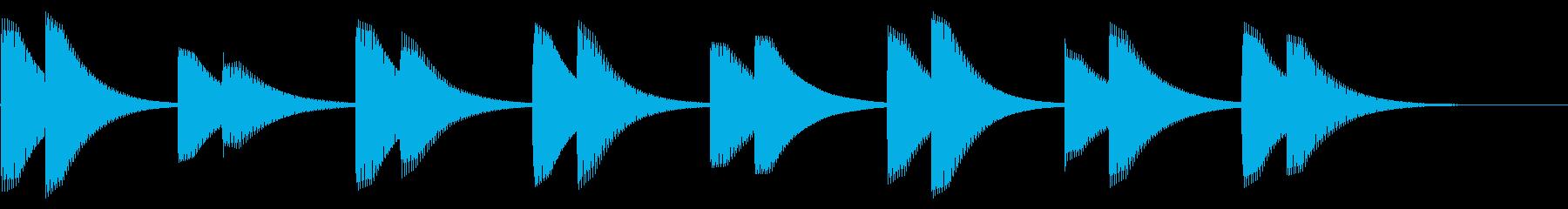 電子アラーム:ミュートベルの再生済みの波形