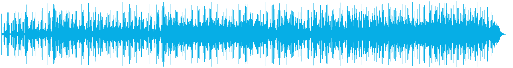 パーカッション中心のポップスの再生済みの波形