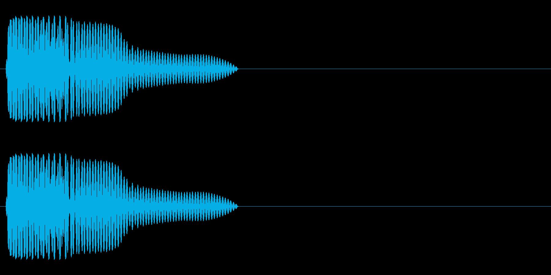 ゴムボールの再生済みの波形