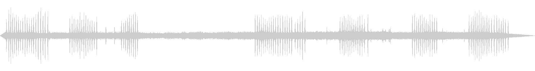 カエルの鳴き声-1の未再生の波形
