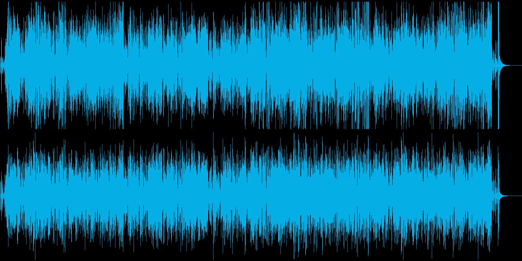 映像BGM おしゃれなジャズボサノバの再生済みの波形