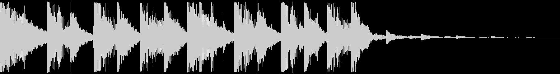 明るいイメージのジングルの未再生の波形