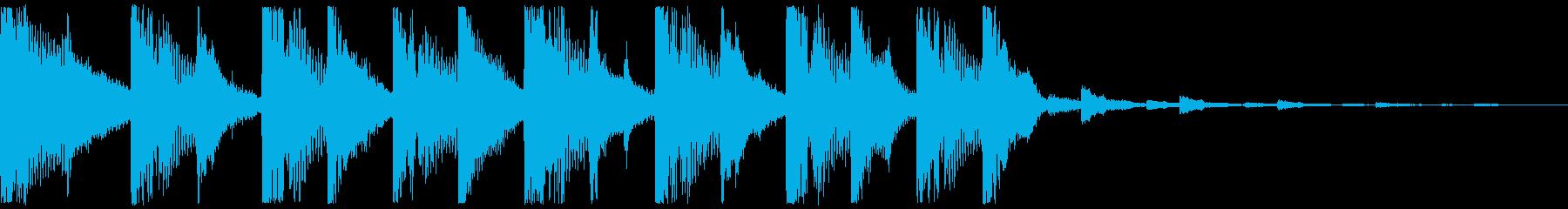 明るいイメージのジングルの再生済みの波形