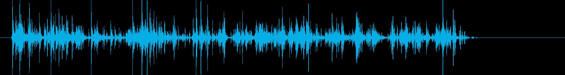 ちゃりちゃり!キーホルダーの鈴の音の再生済みの波形