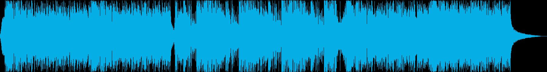 スタイリッシュ、モダン、エレクトロニックの再生済みの波形