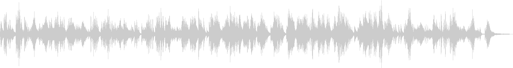 スローな落ち着いた雰囲気のピアノBGMの未再生の波形