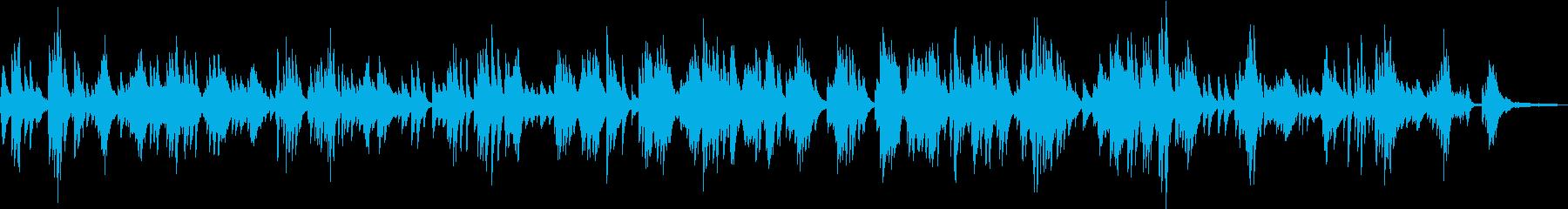 スローな落ち着いた雰囲気のピアノBGMの再生済みの波形