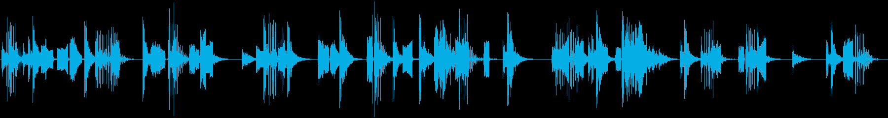 ゲームを「プレイしている」効果音・環境音の再生済みの波形
