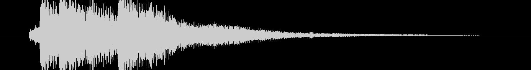 爽やかなアコースティック系サウンドロゴの未再生の波形