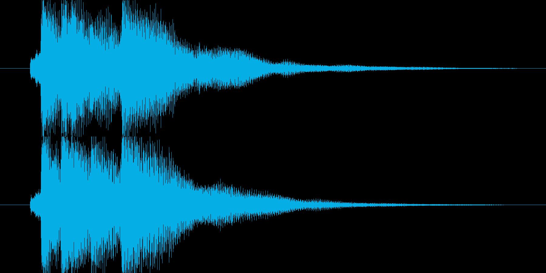 爽やかなアコースティック系サウンドロゴの再生済みの波形