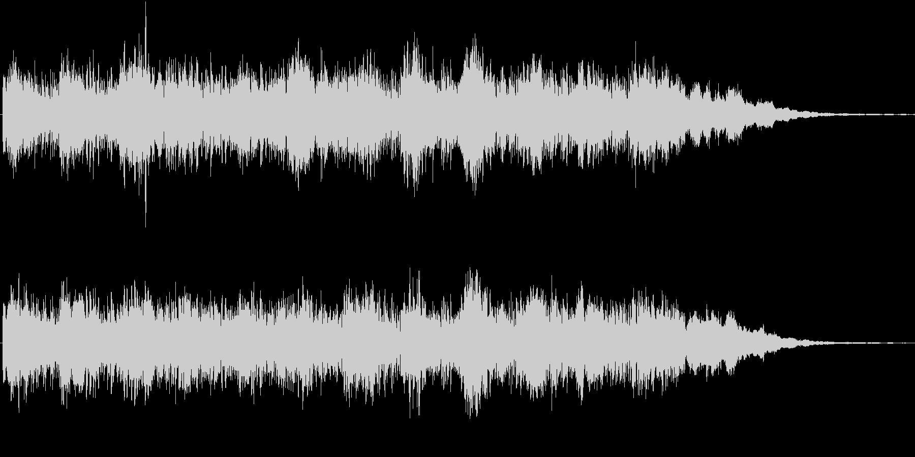 シンセの音色が印象的な奇妙なジングルの未再生の波形