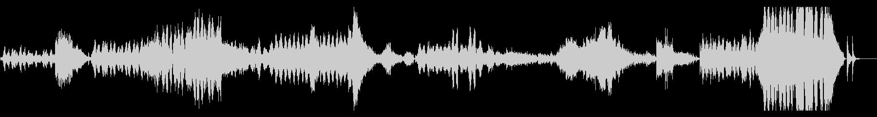 ドビュッシー 世俗的な舞曲 ハープと弦の未再生の波形